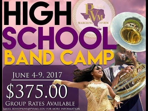PROMO: PVAMU Marching Storm HIGH SCHOOL BAND CAMP (2017)