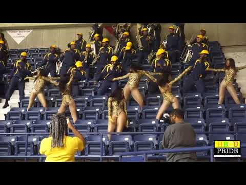 Fort Valley State University I Blue Machine Marching Band Stands I 2018 GA Doom Game