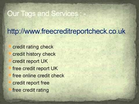 From your credit report.