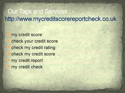 My credit score check