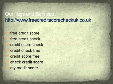 Credit score check free