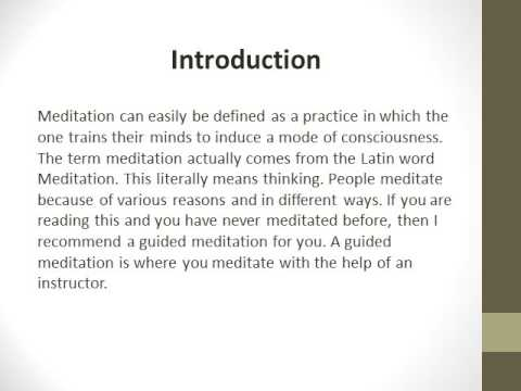 What You Can Benefit From Guided Meditation?