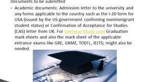 Education loan for studies abroad