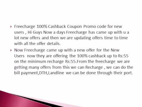 Freecharge 100% Cashback Coupon On Recharge of Rs.55
