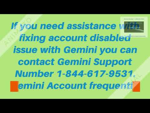 Gemini Phone Number  1-844-617-9531