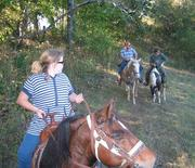 Haley, Eddie, Mike and Jill on a short trail ride..