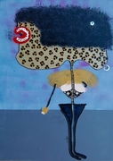 Hi Baby let's spend the night togheter mixed media on canvas cm 70 x 50 2012 piccolo