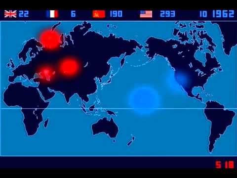 Fukushima Day 106 Time-lapse of Nuclear Explosions since 1945 by artist Isao Hashimoto