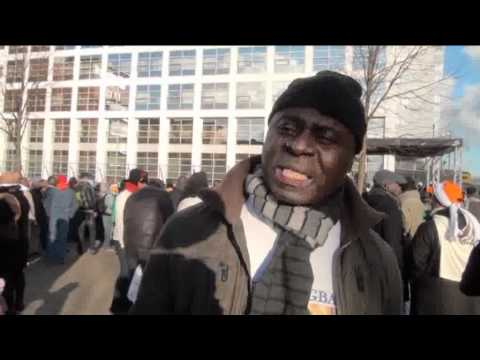 Ivorians from all over Europe at the Hague in support of President Gbagbo: 2