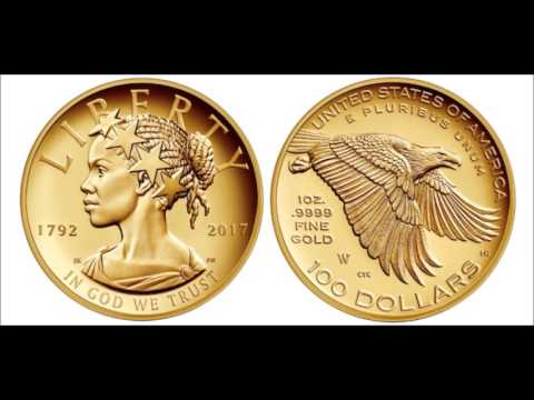 African American Lady Liberty featured on coin celebrating U.S. Mint's 225th birthday