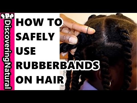 How To Use Rubberband On Natural Hair Kids Hair Style Safely