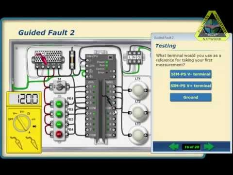 PLC Training: Troubleshooting PLC Circuits Training Software
