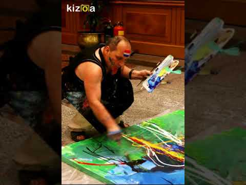 Action in Painting Artist Shefqet Avdush Emini