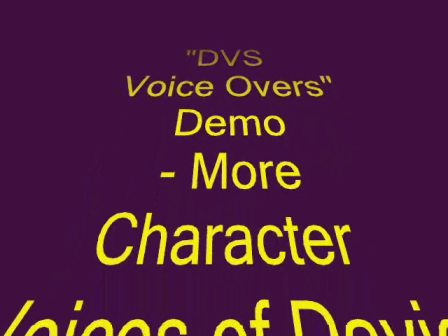DVS Voice Overs additional Characters