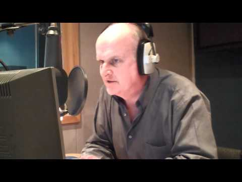 TOP UK voiceoverman Peter Dickson in action