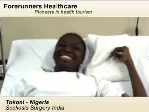 Ms. Tokoni, Nigeria -  Scoliosis Surgery in Bangalore, India