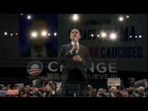 Barak Obama Iowa Victory Speech Remix w/ Michael Jackson