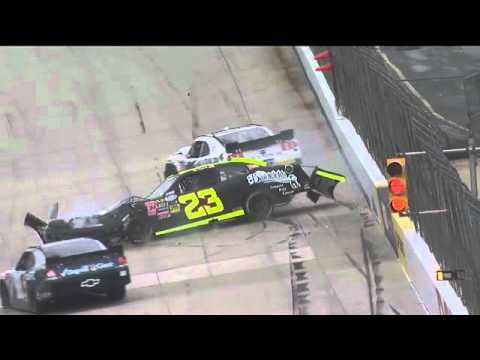 Kevin Swindell/Alex Kennedy Big Crash at Dover 2011