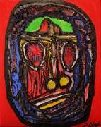 Title The sacrifice,Acrylic and Hot glue on canvas, 80cm x 60cm