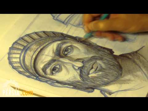 Cyrus the Great, from sketch to statue مجسمه کوروش بزرگ