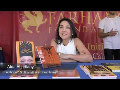 Farhang at the 2015 LA Times Festival of Books at USC