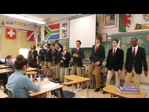 Firestone High School Men's Chorus Valentine's Day Serenade.