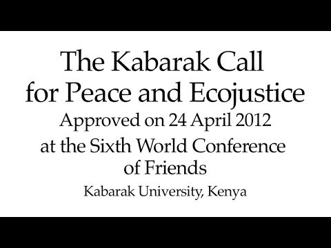 The Kabarak Call for Peace and Eco-Justice