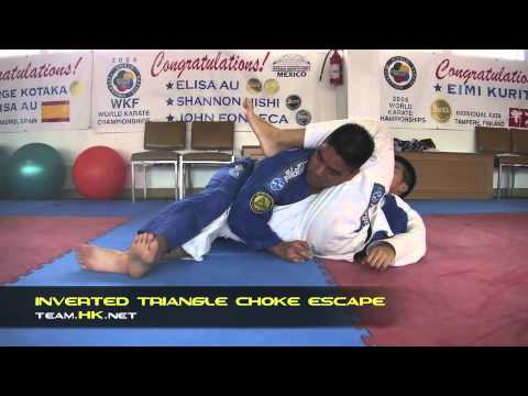 Relson Gracie Jiu-Jitsu Team HK: Inverted Triangle Choke Escape