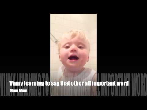 Vinny learning to say those magical words ' Dad' and Mum Ma'