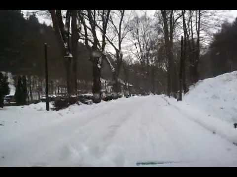 Czech winter road - winter biker life in Bohemia