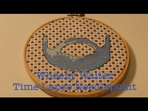 Wheezy Waiter Time Lapse Needlepoint