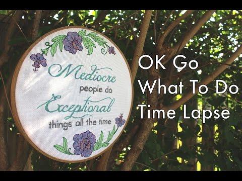 OK Go What To Do Timelapse Cross Stitch