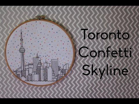Toronto Skyline Time Lapse Cross Stitch