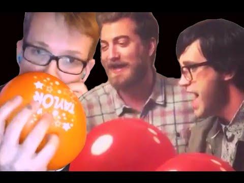 Rhett, Link, and Hank - Playing w/ Helium
