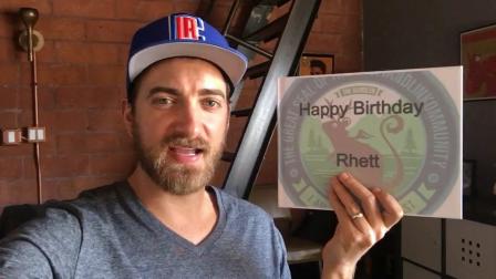 Thank You! From Rhett.