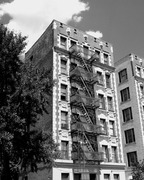 An apartment house in Washington Heights