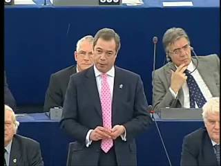 Nigel Farage warns of euro meltdown