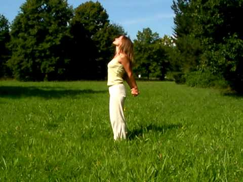 Develop inner peace with a standing yoga backward bend