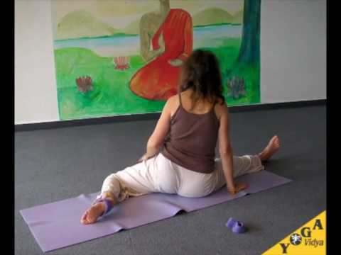 Sitting Yoga Splits with Narayani