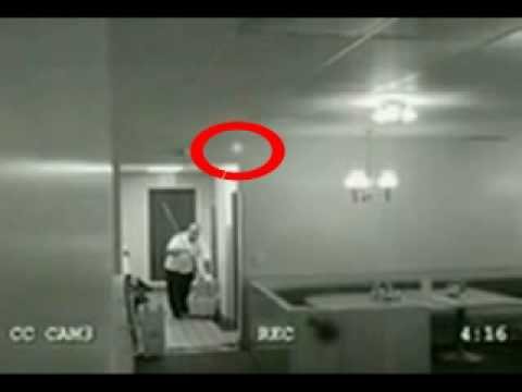GHOST CAUGHT IN SURVEILLANCE CAMERA