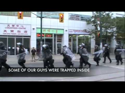 The Love Police at G20 with 9-11 Truth and We Are Change