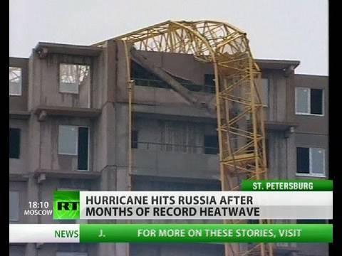 Severe hurricane hits Russia!! Whats going on?