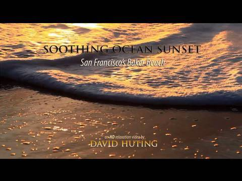 HD Relaxation: Soothing Ocean Sunset - San Francisco's Baker Beach