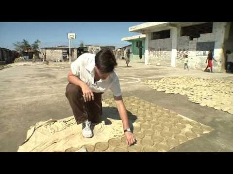 Haitians eat dirt cookies to survive