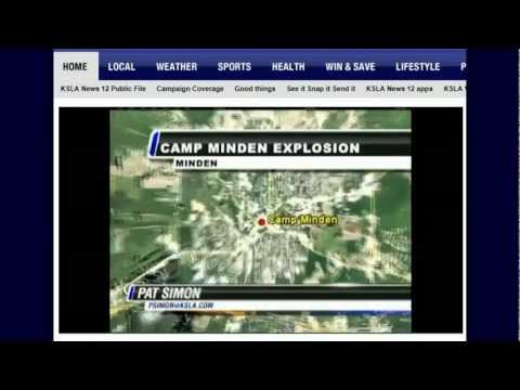 Camp Minden Explosion Update: Blast site Fly over, Meteor Impact or Bunker Explosion? Cover up???