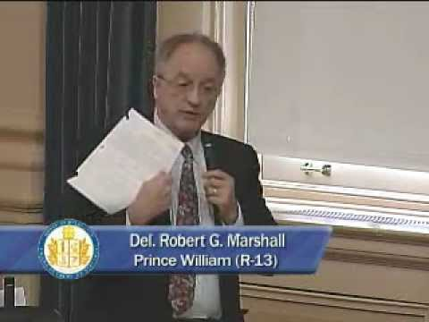 Delegate Bob Marshall, March 5, 2012, Point of Personal Privilage, discusses NDAA Billl (HB1160)