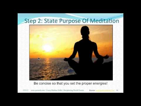 Sheldan Nidle PAO Webinar 39: Preview: A Refocusing Meditation