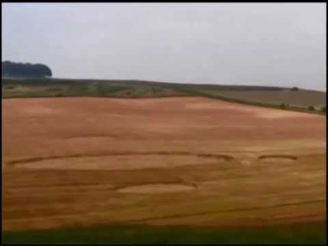UFOs caught making crop circles