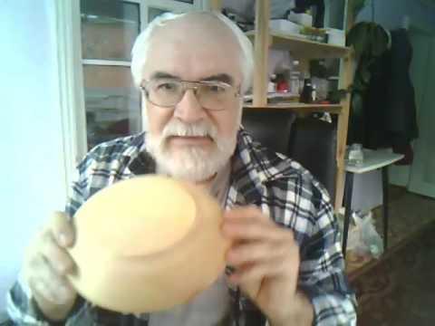 Handmade wooden bowl (Pinus Sibirica)