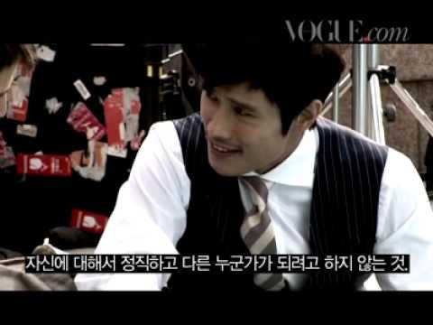 Vogue TV Photoshoot clip of Lee Byunghun and Josh Hartnett- October 2009